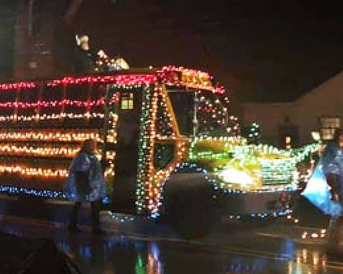 Linesville Lighted Tractor Parade